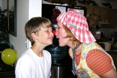 Nose to nose with Sean