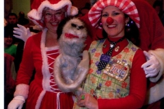 Trixie with Santa and Mrs Clause